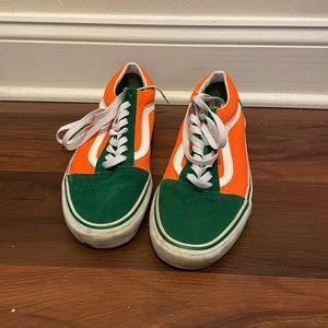 Vans Old Skool Brite (neon orange and green)